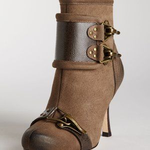 Tracy Reese Anthropologie Brown Suede Boots 7.5